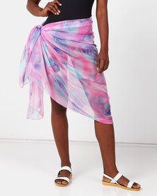 Talooshka Silk Sarong Cover-up Pink-Purple