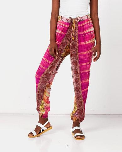 Talooshka Embellished Print Pants Pink