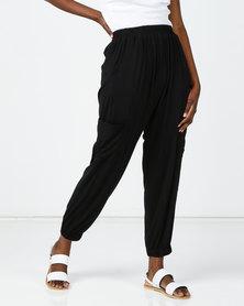 Michelle Ludek Hanna Cargo Style Pants Black