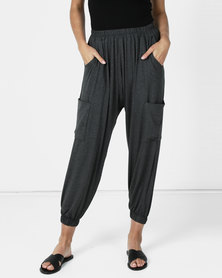 Michelle Ludek Hanna Cargo Style Pants Charcoal