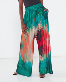 Michelle Ludek Protea Print Molly Wide Leg Trousers Multi