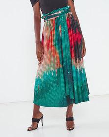 Michelle Ludek Protea Print Chloe Full Skirt Multi