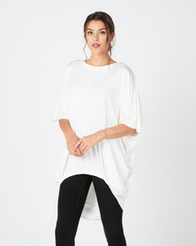 Michelle Ludek Ella Ruched Front Top Ivory