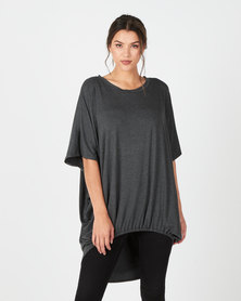 Michelle Ludek Ella Ruched Front Top Charcoal