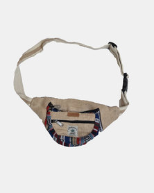 SKA Hemp Ghari Moonbag - Blue/ Red