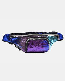SKA Sequin Moonbag Purple - Turquoise