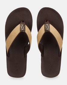 Call It Spring Creber Thong Sandals Brown