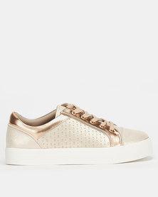 Call It Spring SACKINGEN Ladies Athleisure Slip On Sneaker Gold