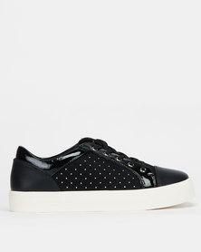 Call It Spring SACKINGEN Ladies Athleisure Slip On Sneaker Black