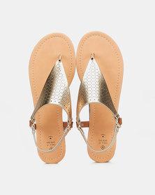 Call It Spring SOMNIARIA Ladies Flat Sandals Gold
