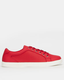 Call It Spring STEWY Ladies Athleisure Slip On Sneaker Red