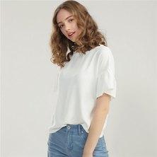 Giordano Women Short Sleeve Polyester Riffle Top