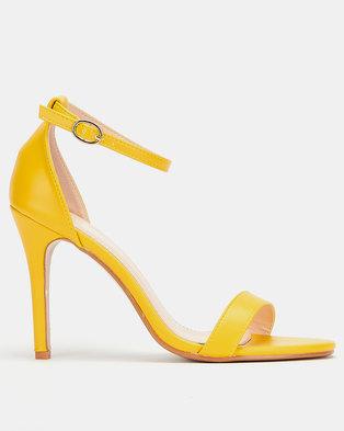 Utopia  Barely There Heels Yellow