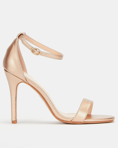 Utopia  Barely There Heel Sandals Rose Gold