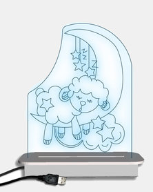 Illuminate Creations  Lulu Sleeping Sheep Night Light  Multi