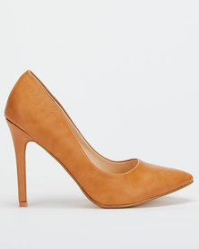 Utopia PU Pointy Courts Brown