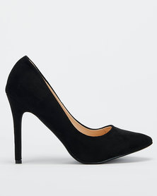 Utopia Microfibre Pointy Courts Black