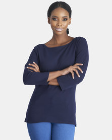 Contempo Slash Tee Navy