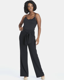 Contempo Bow Pants Black