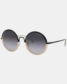 Emporio Armani 0EA2077 30018G Round Sunglasses  Matte Black