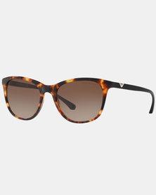 Emporio Armani 0EA4086 567713 Blonde Havana Square Sunglasses