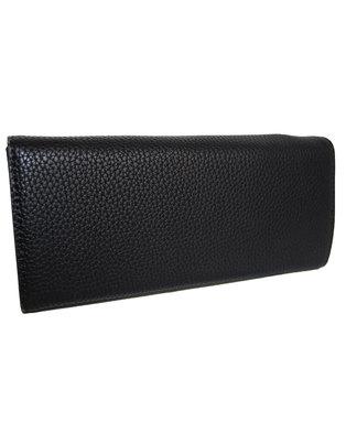 Fino Trifold PU Leather Purse with Box-BLACK