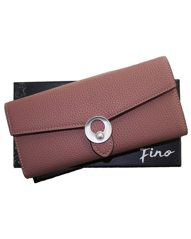 Fino Trifold PU Leather Purse with Box-Pink
