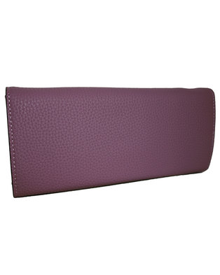 Fino Trifold PU Leather Purse with Box-Purple