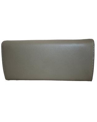 Fino Pu Leather Elegant Purse with Box-Grey