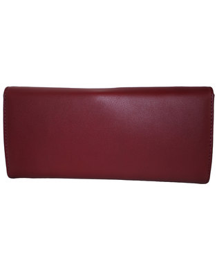 Fino Pu Leather Elegant Purse with Box-Red