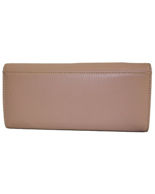 Fino PU Leather Gold Magnetic Closure Purse with Box-Pink