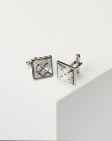 Joy Collectables Shell Cuff Links Silver