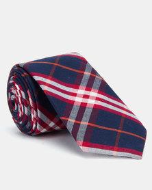 Joy Collectables Fashion Check Tie Navy