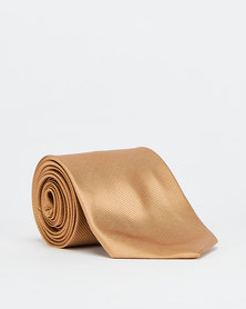 Joy Collectables Plain Twill Tie Gold