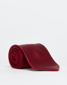 Joy Collectables Plain Twill Tie Red