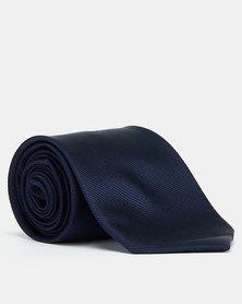 Joy Collectables Plain Twill Tie Navy