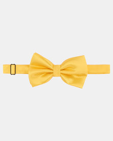 Joy Collectables Plain Twill Bow Tie Yellow
