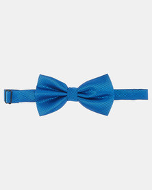 Joy Collectables Plain Twill Bow Tie Blue