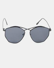 Joy Collectables Fashion Round Metal Sunglasses Black