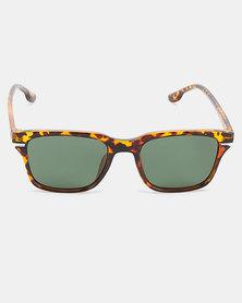 Joy Collectables Polorized Wayfarer Sunglasses Tort/Green