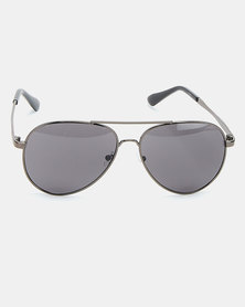 Joy Collectables Calssic Oval Frame Sunglasses Grey