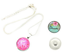 Urban Charm Snap Creations Round Necklace with 2 x Interchangeable Snaps - Dream