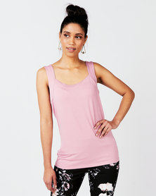 Queenspark Casual Core Knit Cami Pink