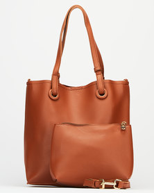 Joy Collectables Everyday Tote Bag Tan Brown