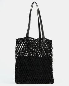 Joy Collectables Crochet Shopper Bag Black