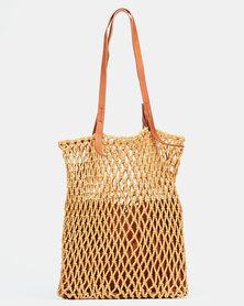 Joy Collectables Crochet Shopper Bag Tan
