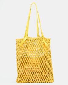 Joy Collectables Crochet Shopper Bag Yellow