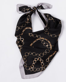 Joy Collectables Chained Up Silky Scarf Black