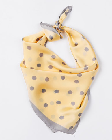 Joy Collectables Dotty Silky Scarf Yellow
