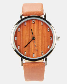 Joy Collectables PU Strap Watch Nude